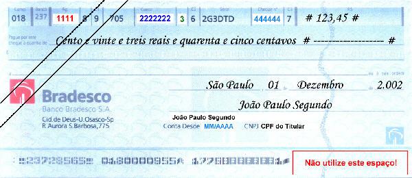 cheque bradesco