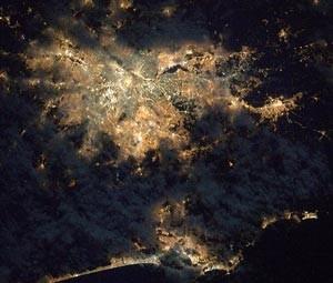 São Paulo et sa périphérie vue depuis la Station Spatiale Internationale